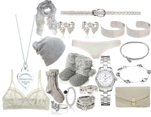 Eleanor inspired silver/grey items by ieleanorcalderstyle featuring a slouchy beanieHanky Panky lingerie bra / Fat Face , $16 / Mini skirt / Rocha.John Rocha grey shoes, $32 / Dorothy Perkins , $16 / Tag Heuer bangle watch / Stolen Girlfriends Club bow ring, $150 / Tiffany / Accessorize sterling silver leaf ring / Cath Kidston , $30 / ASOS steel jewelry, $9.67 / Lipsy stackable eternity ring, $16 / River Island , $2.42 / Lace shawl / Mango slim belt / Slouchy beanie