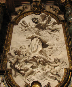statuemania:  Crowning of St Aloysius Gonzaga tomb of St. Aloysius Gonzaga, Sant'Ignazio di Loyola, Rome. (Photo by Lawrence OP)