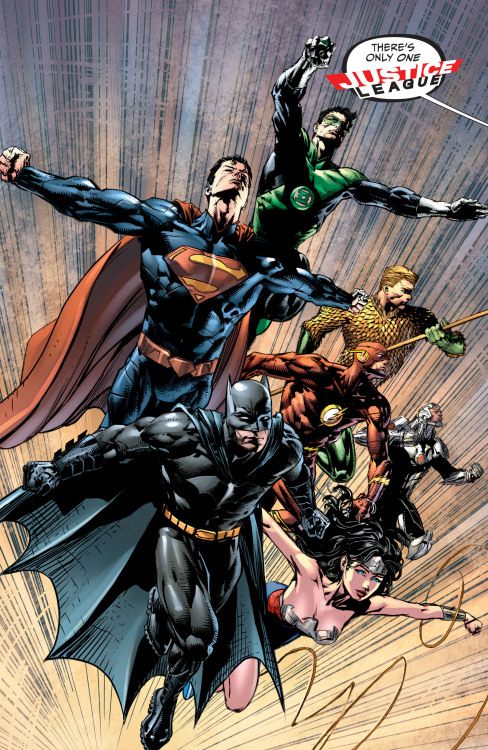 There's Only One Justice League… // artwork by David Finch and Sonia Oback (2013)