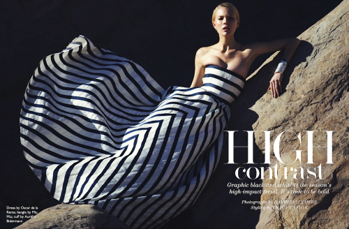 """High Contrast"" (+)Net a Porter Magazine, 9 May 2013 photographer: David Bellemere Britt Maren"