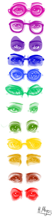 thatoneasgardian:  :D I drew some sketches of troll eyes because I was bored….. meh…