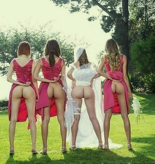 Lesbian bride with bridesmaid hot pics