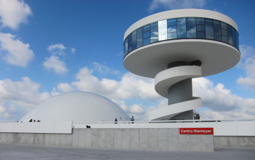 The Niemeyer Cultural Center in Asturias, Spain