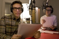 "npr:  Saturday Night Live and Portlandia personality Fred Armisen co-hosts This American Life with Ira Glass. This week's theme: doppelgangers. Armisen imitates Glass through the hour-long show, something Armisen worked on for SNL, ""but the public radio personality isn't quite famous enough to be mocked on network TV,"" according to TAL's website. -L  Photo by Adrianne Mathiowetz"