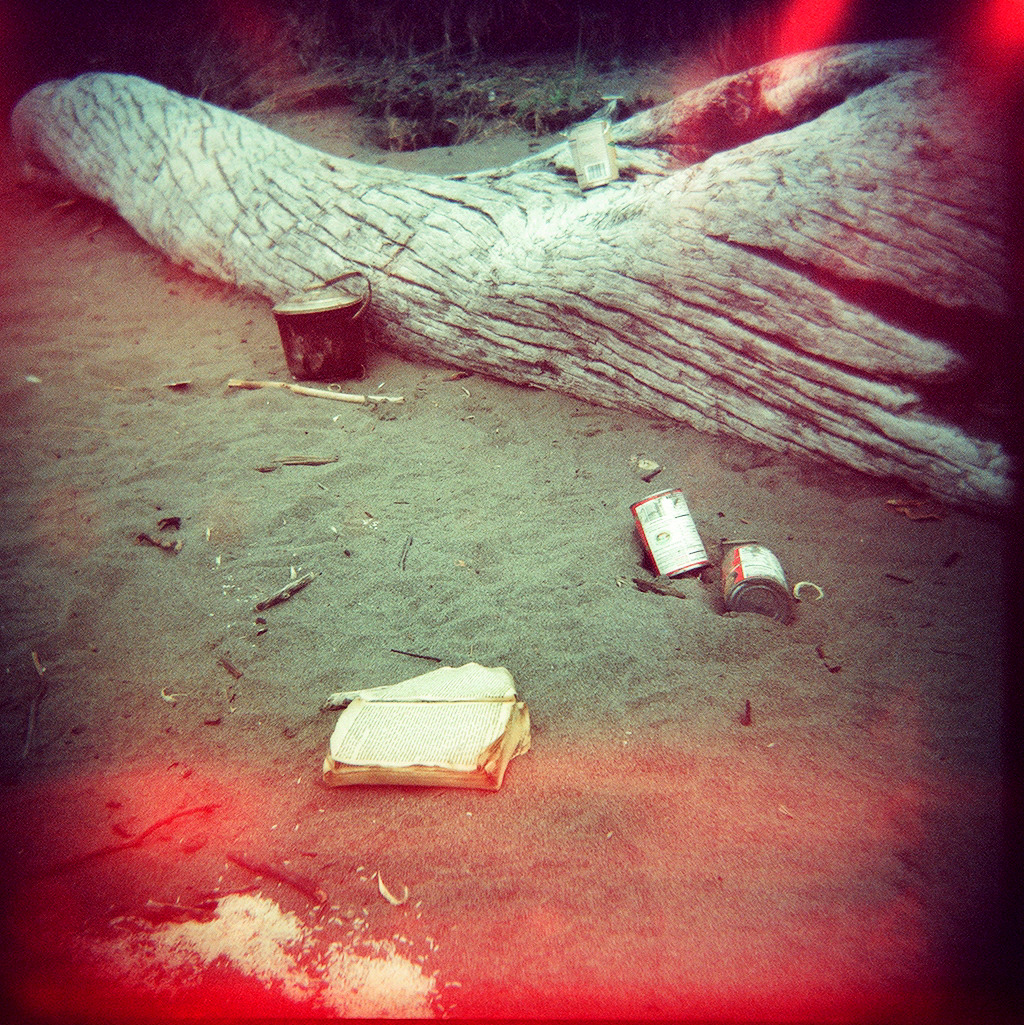 """Old Things in Sand"" Holga 120N"