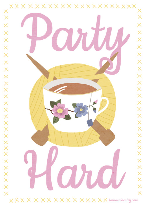 knit knitters tea party hard