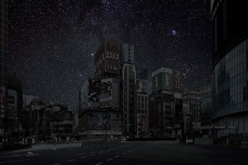 Darkened Cities by Thierry Cohen Created by Parisian photographer Thierry Cohen this stunning photo series shows major cities from all around the world with no power. There's no street lights illuminated, no cars, no homes lit up, not office blocks flooding the nights sky with light. With zero light pollution the starry skies above are able to shine bright and become visible.  Artists: | Website | [via: 123inspiration]