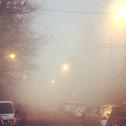 Loving the morning #fog welcoming #2013.
