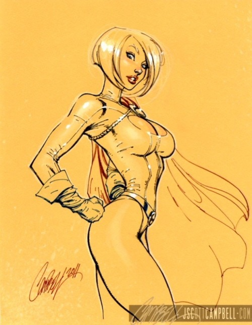 Power Girl - by J Scott Campbell