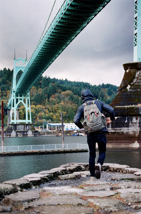 Daniel at St. Johns bridge, Portland by Liz Devine.