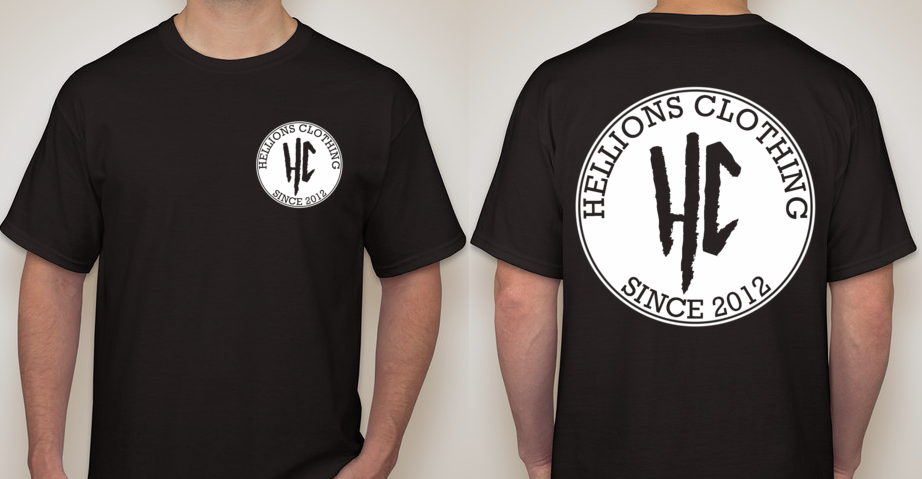 These are on their way right now! Excited to have our first shirts ready for you guys, be sure to check our facebook for more updates!