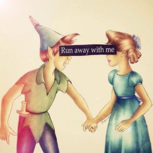 clarabarrios:  with me.#peter #pan #peterpan #wendy #runaway #away #with #me #loveit #cute #together #instacute
