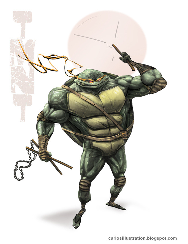 TMNT by Carlos Villagra Artist twitter / blog / flickr