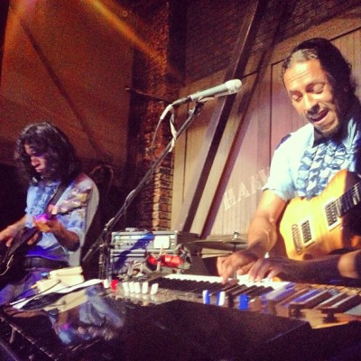 @ChicanoBatman so rad.  Kicking off their May residency right #guitarstunedgoodandfirmfeelinwomen #harvardandstone  (at Harvard & Stone)