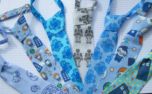 Doctor Who Themed Bowties and Ties for Boys and Girls (etsy)