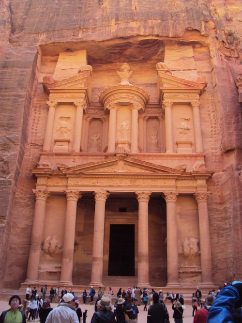 cherrybomb206:  Petra, Jordan. 17/4/2013 For anyone who wants to know: I took this on a school trip I went on with the rest of my classmates last month, the walk to get to see this was the longest walk I've ever taken in my life, but it was definitely worth it. And yes, that's how the colors look in real life.