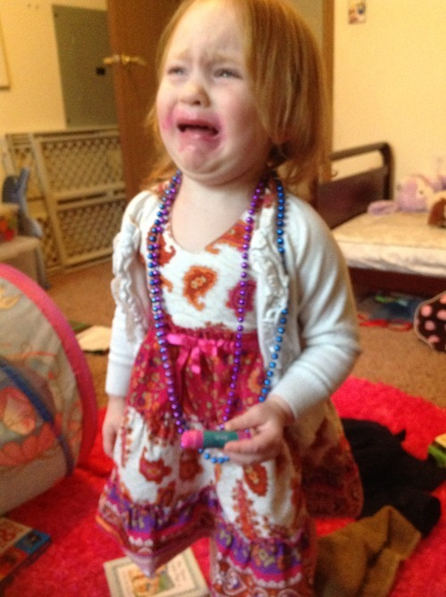 "reasonsmysoniscrying:  ""I wouldn't let her put anymore make up on."" Submitted By: Meggie D.Location:  Wisconsin, United States"