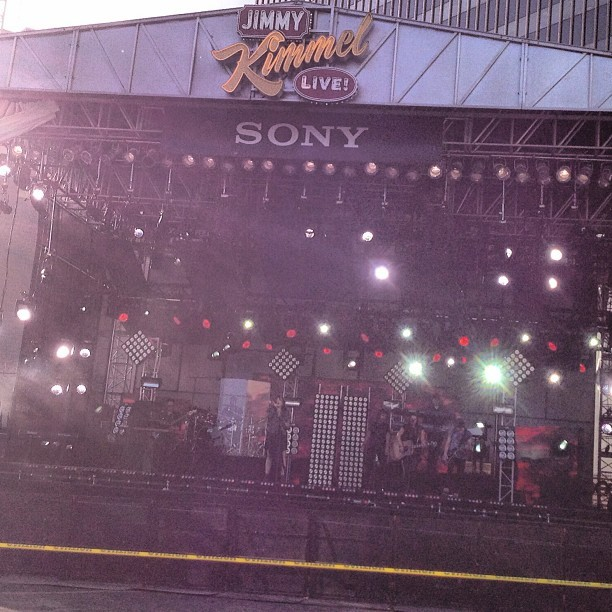 Jimmy Kimmel - Sound check flawless as always @ddlovato!!! @ Jimmy Kimmel Live Outdoor Mini-concert