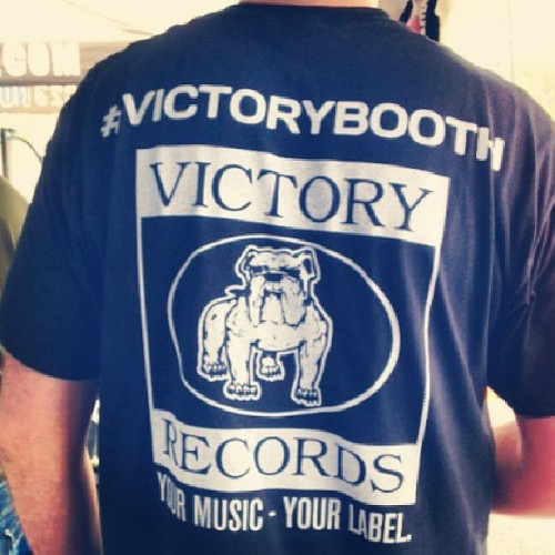 Come see out booth at #skateandsurf!  #victorybooth #victoryrecords