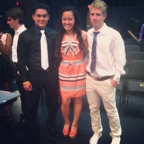 NHS president, secretary, and vice president :) #nhs (at Brewer High School)
