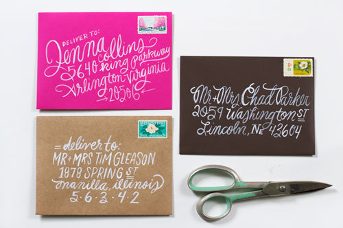 Did you know that we do envelope lettering? I thought I would post some recent samples of our envelopes. It's always a treat to work on these.