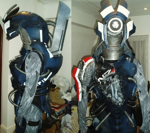 "theafrorevolution:  dr-danielle-johannsen:  Legion Cosplay 9.1 WIP by ~BurnedRaven Cosplay. People are so awesome :D  ""Damn right.""My sis would glomp this guy in a second if we found him at Comic-Con. :D….I probably would as well."