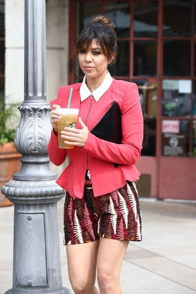 Kourtney Kardashian out + about in L.A. on Monday.
