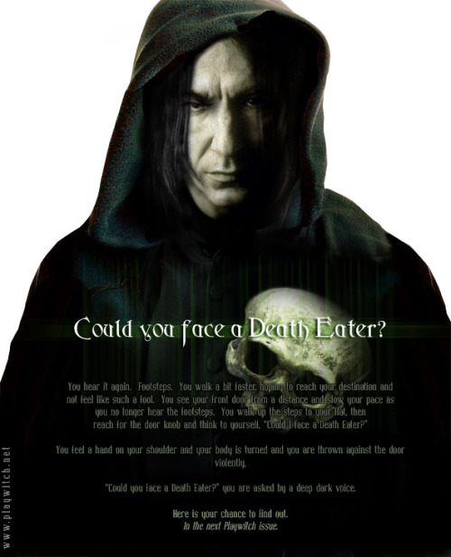 severussnapegal:  Artist: Marquise Could you face a Death Eater? Particularly, this one?