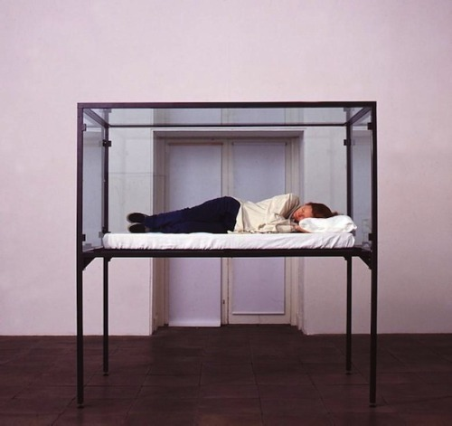 the-ghost-of-a-smile:  The Maybe' (1995) by Cornelia Parker in collaboration with Tilda Swinton.