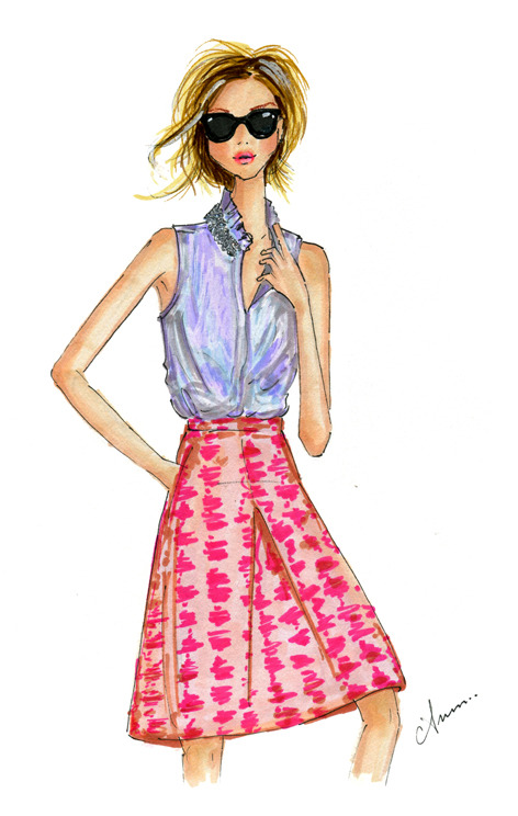 illustrationsbyanum:  j.crew