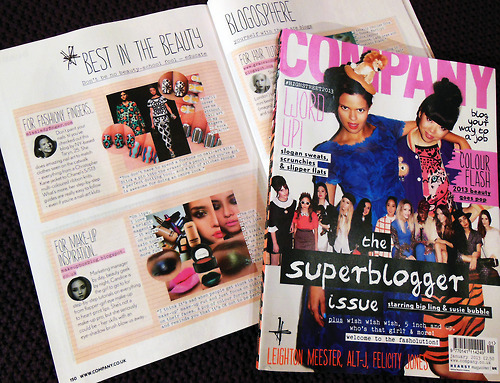 Company Magazine's Super Blogger Issue… see a familiar face? :)