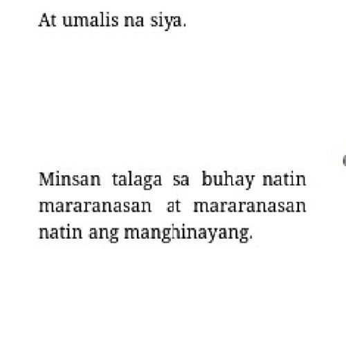 Nanghihinayang. Big word! :') #quote #friday #throwback