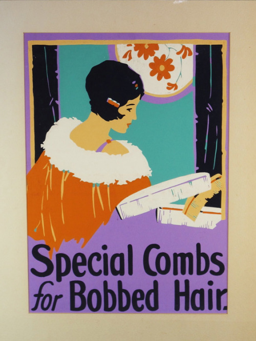 maudelynn:  1920s advert for Bobbed Hair Combs