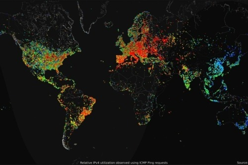 "A detailed look at the internet. brucesterling:  ""The Most Detailed Picture of the Internet Ever"" http://motherboard.vice.com/blog/this-is-most-detailed-picture-internet-ever *Hacker who pulled it off brags in detail about his technique, dabbles in dazzling infoviz: http://internetcensus2012.bitbucket.org/paper.html"