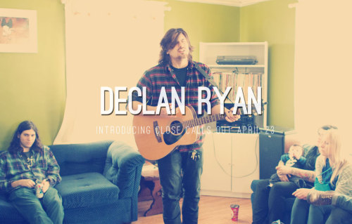 We've signed our good Friend Declan Ryan. Debut EP with his band Close Calls out on 4/23.   PO the limited edition arigato pack /200 here.