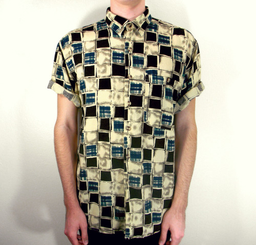 watercolor blocks vintage shirt; $20