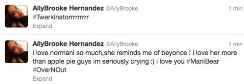 Normani is hacking Ally and it is the cutest effing thing in the world.