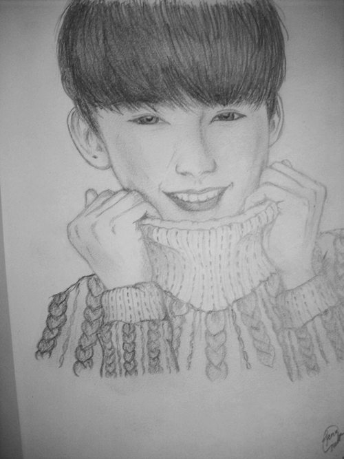 Done! So this time I tried to draw more realistic (?).He´s Gongchan from the group B1A4 ^^Reference: »