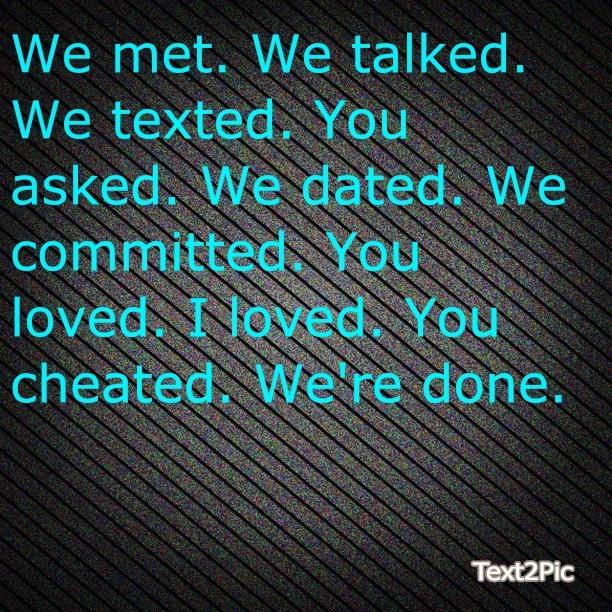#Met#Talked#Texted#Asked#Dated#Committed#Loved#Done#Truth#Quote#Relationships#Breakups#Betrayal