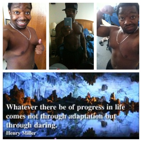"""Strive for progress not perfection""  Tryna get back to the middle pic. Doin good so far I'd say :p"