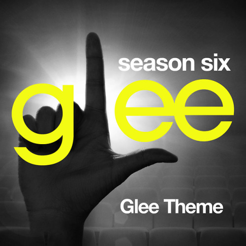 A Glee album cover for the Glee theme song the official Season 6 style.