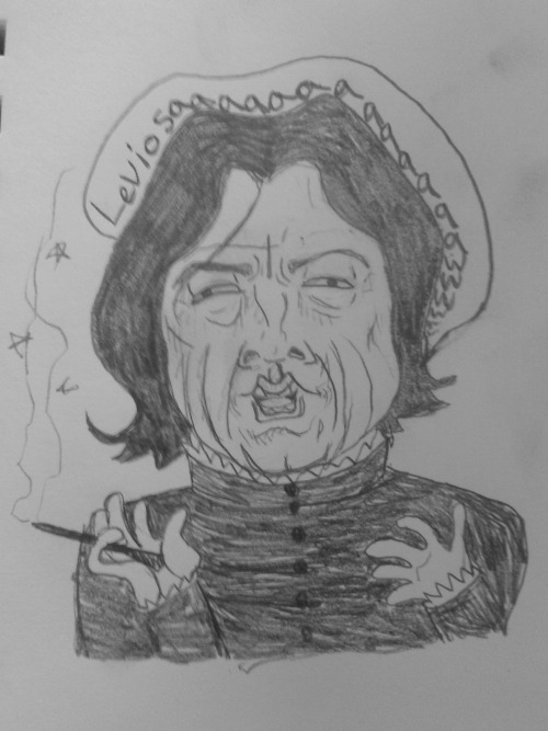 Drawing Snape is just way too fun.