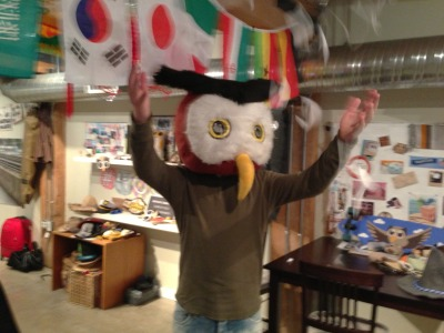 #HootHootHooray! #Owly makin' it rain after announcing all the winners for Affiliate Summit West 2013 – Networking and VIP Pass Giveaway! #HootOn!