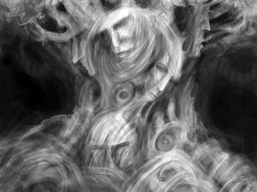 A Tree of Facesdigital doodle 6x8in