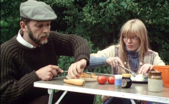 "This is a picture from Mike Leigh's Nuts In May, a funny tragi-comedy about a couple on holiday in England. Their quiet tranquility is kicked aside by noisy neighbours. Top 10 Films takes a look at this and other ""Brits On Holiday"" films to celebrate the release of Ben Wheatley's dark but humourous Sightseers."