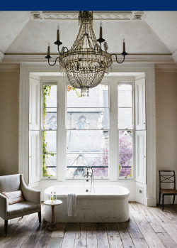 via nikki friday theme: white interior designer rose uniacke's awe-inspiring bathroom.  profiled in the nyt.