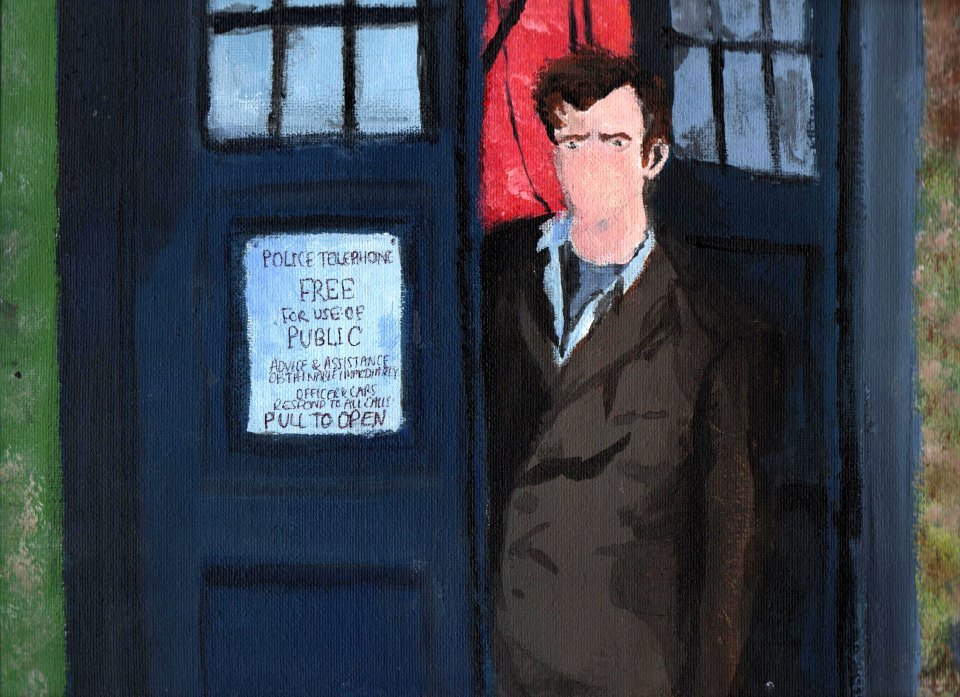 scificity:  http://scificity.tumblr.com Friend painted the 10th Doctor for me!