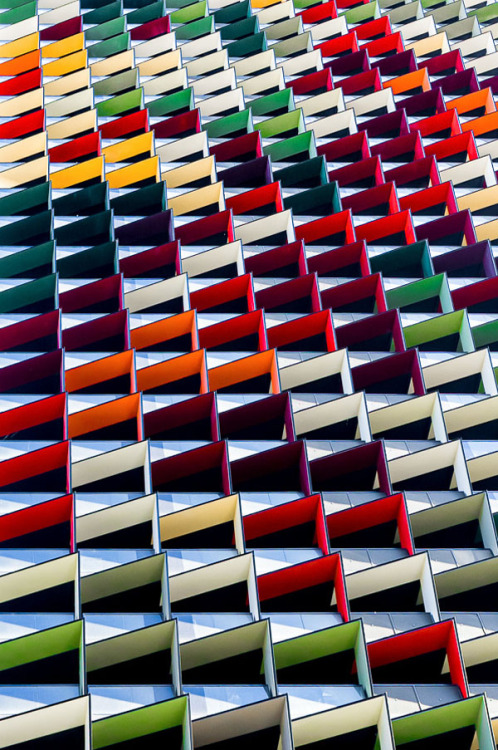 thekhooll:  Origami Colorful Architecture Pattern – Photography by Jared Lim