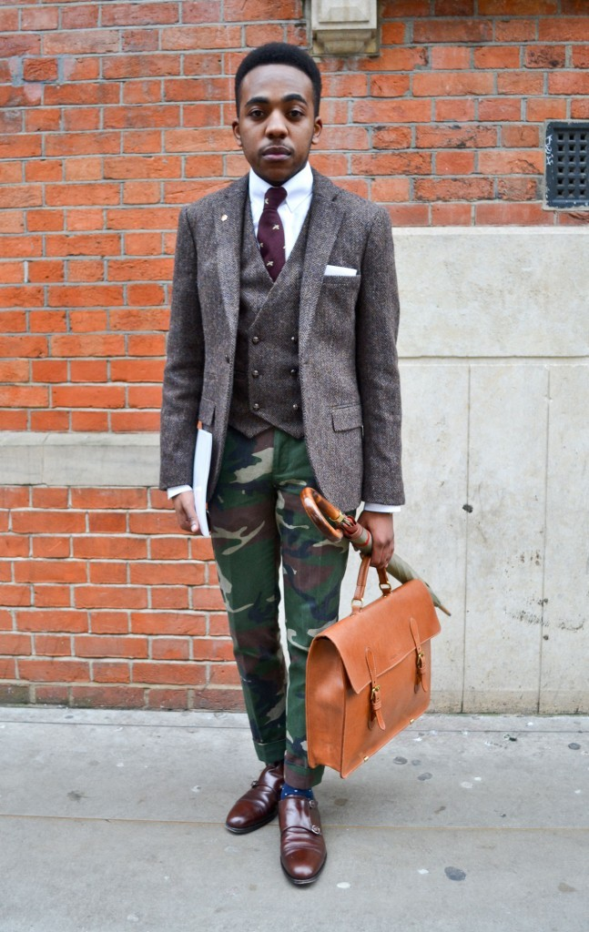 There isn't a more perfect way to incorporate camo into your suit look.