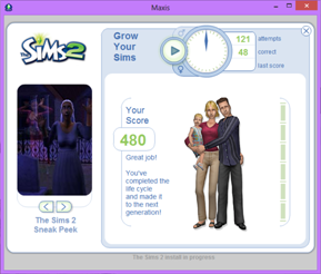 I'd forgotten all about the Grow Your Sims game, it's been that long since I re-installed. Also love the Maxis sneak peek pictures on the left!